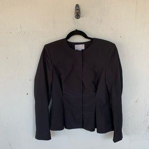 H&M Black Zip Ruched Blazer Jacket